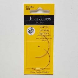 Pärlnålar böjda JJ31 i tvåpack