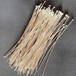 Hattpinnar silverfärg 70x0,7mm