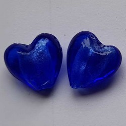 Hjärta 2 st silverfoiled...