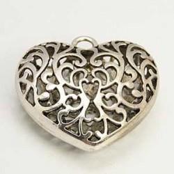 Hjärta i metall 51x50mm