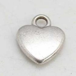 Hjärta silverfärg 12x10mm