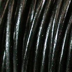 Läder indiskt 2mm svart
