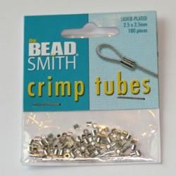 Klämpärlor 2,,5mm Beadsmith...