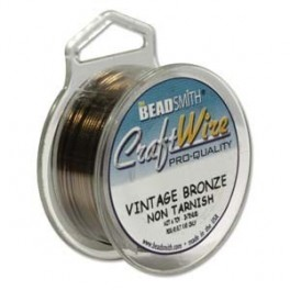 Craft wire vintage bronze 28ga, 40yd