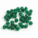 Firepolished 4mm Dark Emerald, 40 st