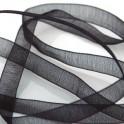 Organzaband, svart 10mm